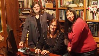 Maryalene LaPonsie, Tina Dickerman, and Amanda Schrauben
