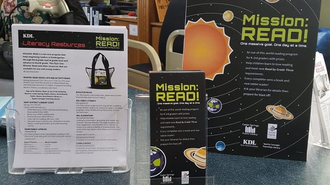 Blast off with KDL's Mission: Read - Lowell's First Look
